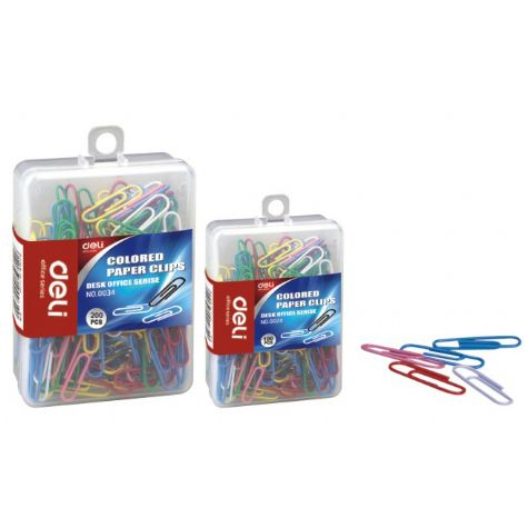 Deli Paper Clips Coloured 29mm  PACK 100