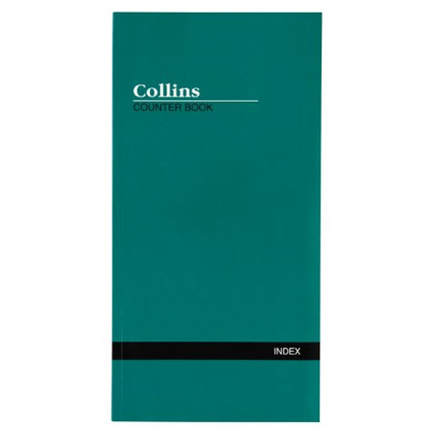 Collins Counter Book 4653 Indexed 160 Page