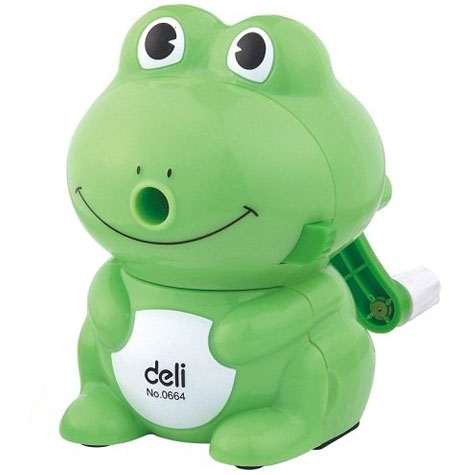 Deli Pencil Sharpener Frog Set 0609  EACH SPECIAL 30% Off - only 1 available at this price