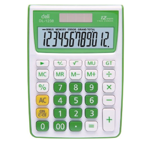 Deli Student Calculator 1238 Assorted Funky Colours EACH