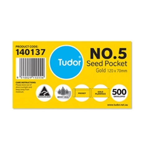 Tudor No.5 Envelopes Gold Plain Face 120 x 70mm BOX 500 SPECIAL 30% Off - only 4 available at this price
