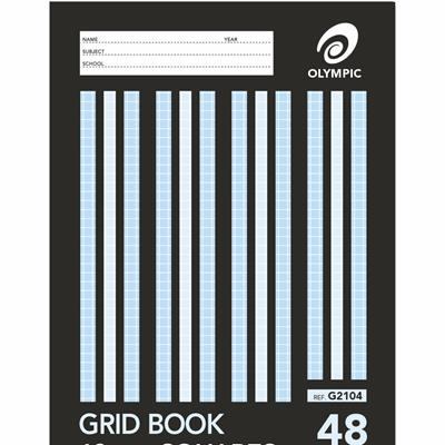 Olympic Grid Book 225 x 175mm 10mm Squares (rulings to edge) 48 Page