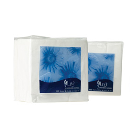 Livi Essentials White Luncheon 2 Ply 100 Sheets/Pack