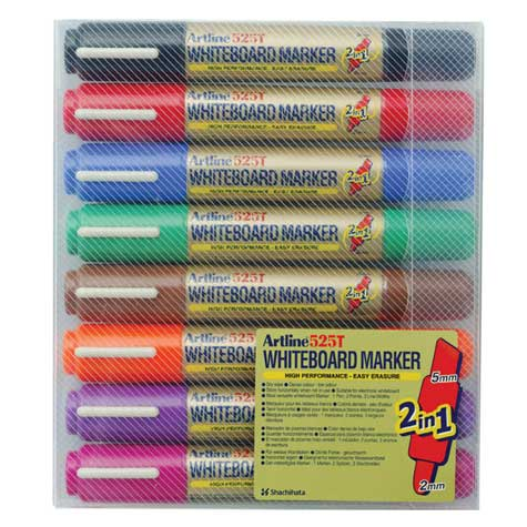 Artline 525T Whiteboard Marker Dual Nib 2 Colour Assorted WALLET 8 SPECIAL 30% Off - only 1 available at this price