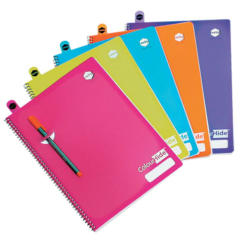 ColourHide Notebook A4 with Pockets 120 Page SPECIAL 30% Off - only 3 available at this price
