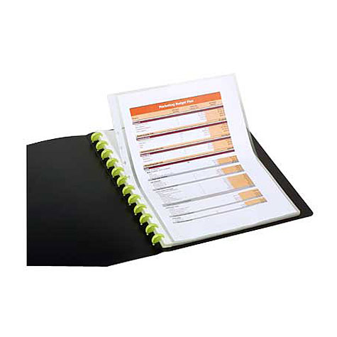 Marbig Kwik Zip Display Book Refillable A4 20 Pocket Black SPECIAL 30% Off - only 12 available at this price