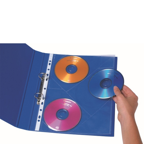 Marbig CD/DVD Pockets A4 PACK 10 SPECIAL 30% Off - only 5 available at this price