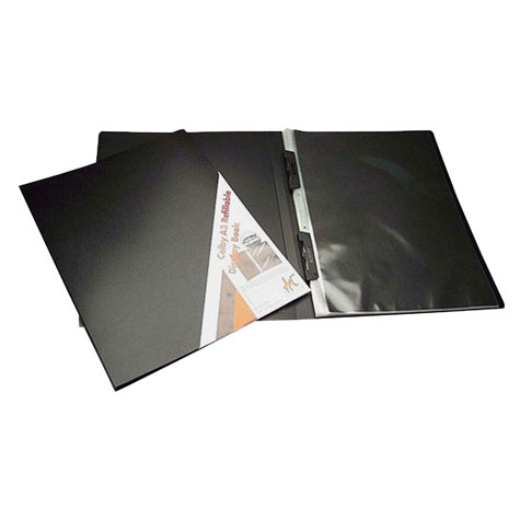 Colby Art Refillable A3 Art Display Book 20 Page Black SPECIAL 30% Off - only 11 available at this price