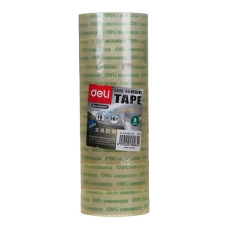 Deli Office Tape 30065 18mm x 33m PACK 8