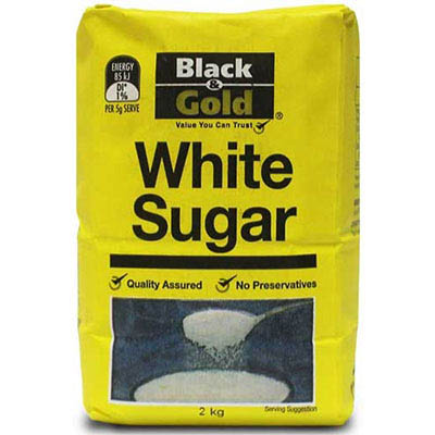 White Sugar Black & Gold 1kg SPECIAL 30% Off - only 16 available at this price