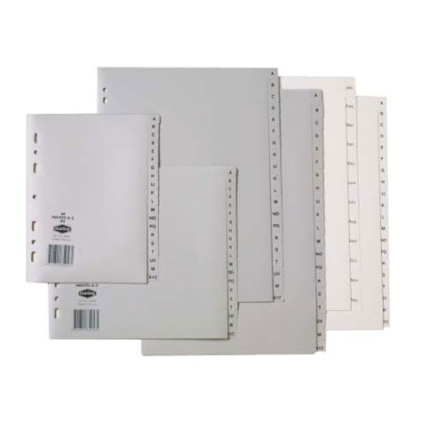Marbig Polypropylene Foolscap Dividers A - Z Tab Grey EACH SPECIAL 30% Off - only 1 available at this price