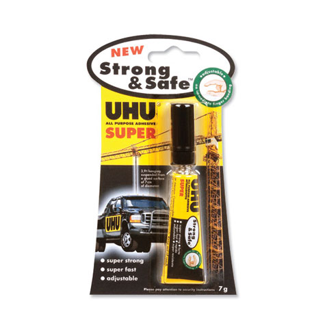 UHU Strong and Safe Glue Adjustable 7gm EACH