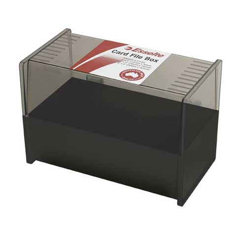 Esselte SWS System Card Box 127 x 203mm Black SPECIAL 30% Off - only 3 available at this price
