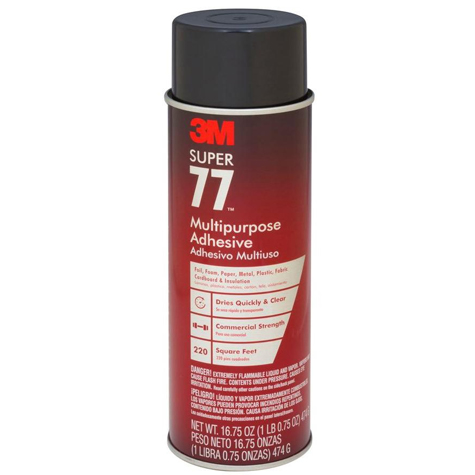 3M Super 77 Multipurpose Adhesive Spray 467GM SPECIAL 30% Off - only 5 available at this price
