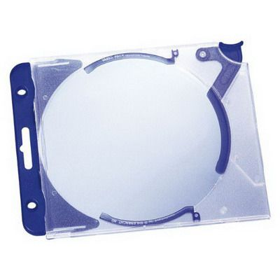 DURABLE QUICKFLIP COMPLETE CD/DVD CASE WITH QUICKFLIP CLIP PACK 5