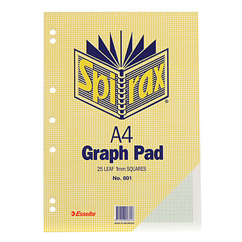 Spirax 801 A4 Graph Pad 1mm 50 Page SPECIAL 30% Off - only 40 available at this price