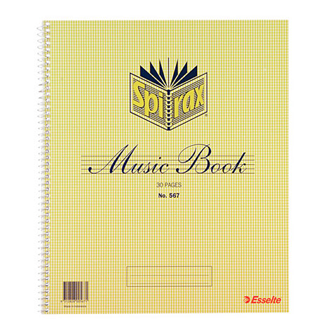 Spirax 567 Music Book A4 15 Leaf SPECIAL 30% Off - only 16 available at this price