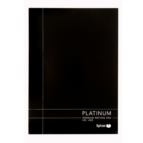 Spirax Platinum Writing Pad A4 White SPECIAL 30% Off - only 2 available at this price