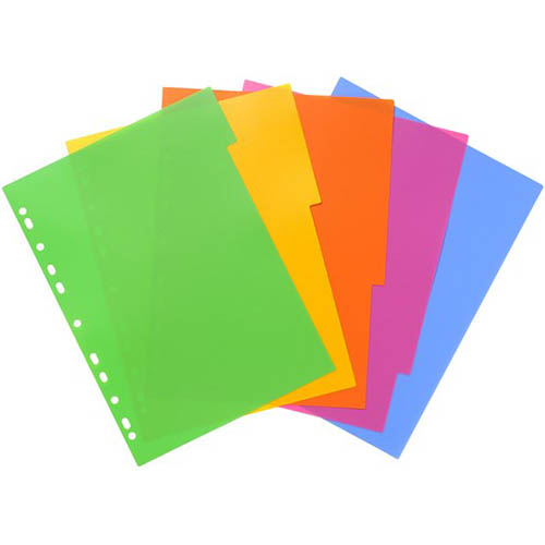 Bantex 5 Tabbed Dividers A4 Lollyshop PACK 5 SPECIAL 30% Off - only 21 available at this price