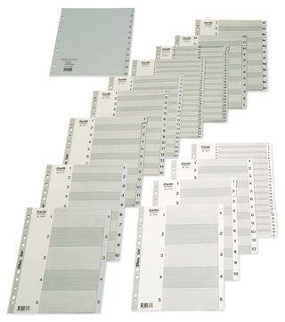 Bantex A4 Polypropylene Dividers 1 - 100 Grey SPECIAL 30% Off - only 5 available at this price