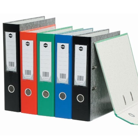 Marbig Lever Arch File Colour Mottle A4 Black SPECIAL 30% Off - only 23 available at this price