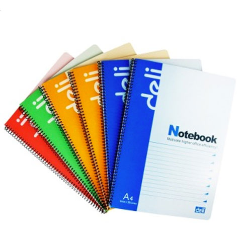 Deli Spiral Notebook A4 Pocket 7690 200 Page EACH