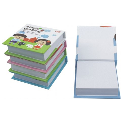 Deli Mini Notepad 7703 68 x 73mm 280 Page PACK 8