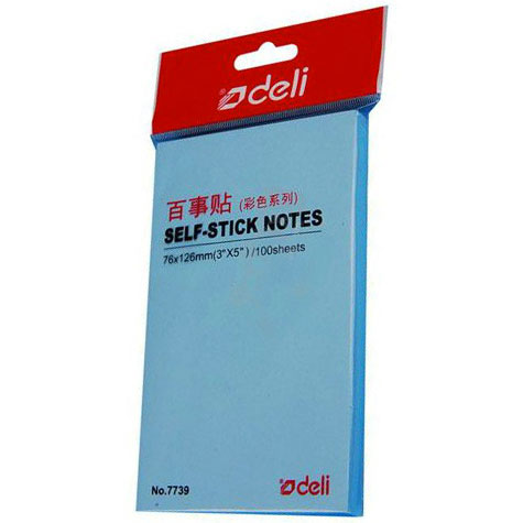 Deli y Notes 7739 Pastel 76 x 126mm Assorted 100 Sheets