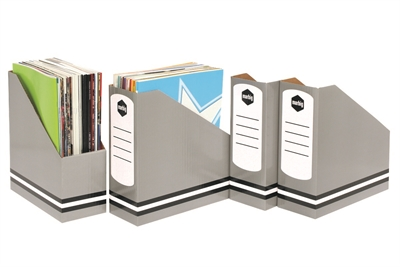 Marbig Magazine Holders Standard Grey PACK 4 SPECIAL 30% Off - only 14 available at this price