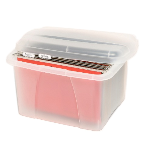 Crystalfile Porta Box Clear with 10 Files SPECIAL 30% Off - only 5 available at this price