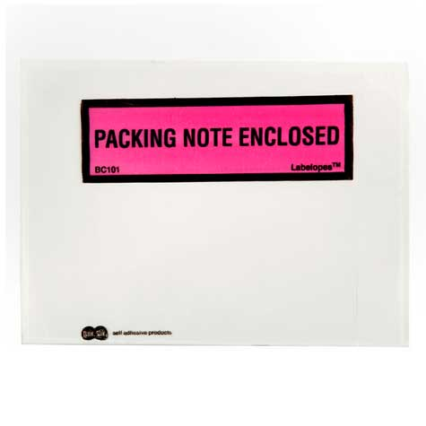 Labelopes PACKING NOTE ENCLOSED Adhesive 122 x 100mm BOX 500 SPECIAL 30% Off - only 1 available at this price