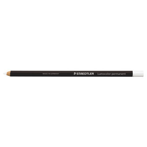 Staedtler Glasochrom Pencil Dry Marker White