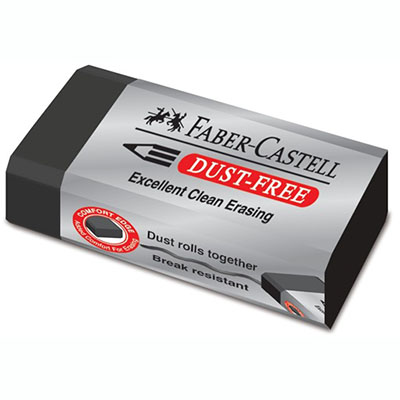Faber Castell Dust Free Eraser with Sleeve Black Large SPECIAL 30% Off - only 10 available at this price