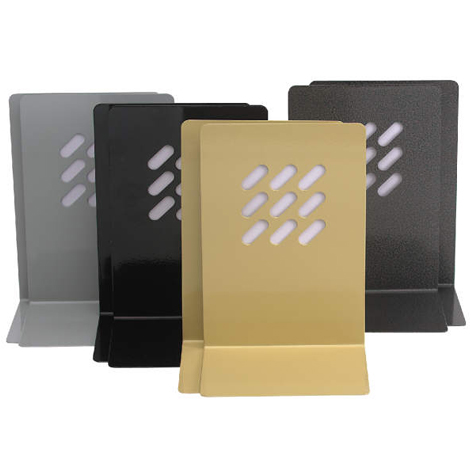Marbig Heavy Duty Book Ends Black PAIR SPECIAL 30% Off - only 6 available at this price