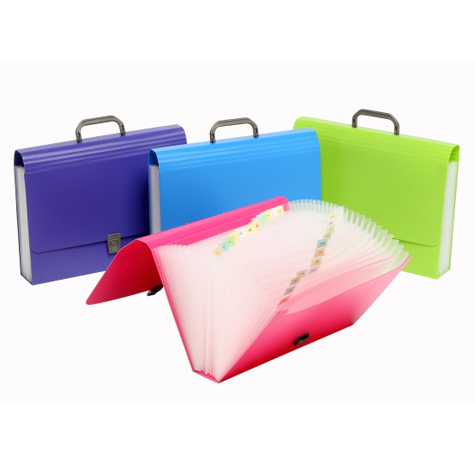 Marbig Summer Colours Polypropylene Expanding File Assorted SPECIAL 30% Off - only 4 available at this price