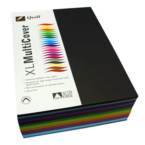 Quill A4 Multicover Paper 125gsm Assorted Colours REAM 500 SPECIAL 30% Off - only 1 available at this price