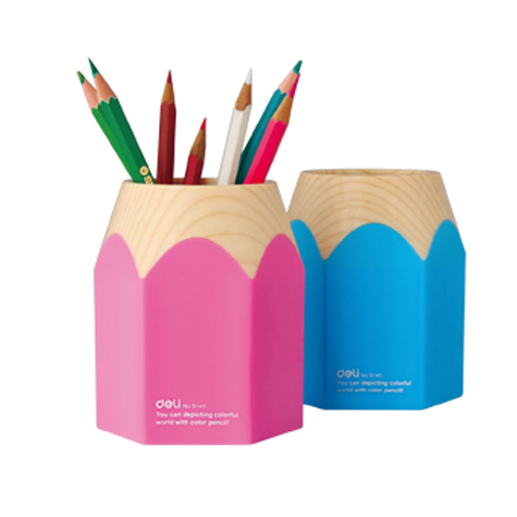 Deli Novelty Pen and Pencil Holder 9145 Pink/Blue EACH
