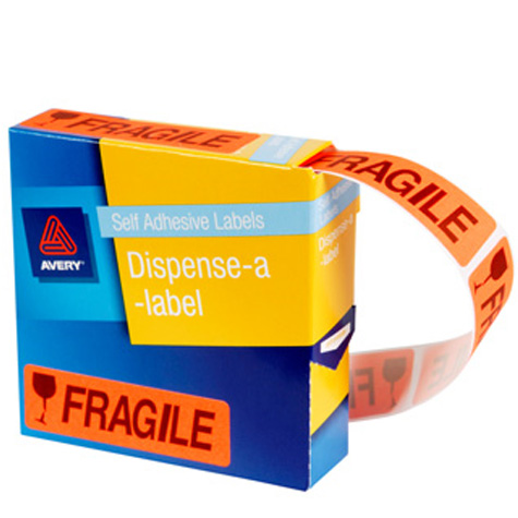 Avery Preprinted Dispenser Labels 'Fragile' PACK 125 SPECIAL 30% Off - only 3 available at this price