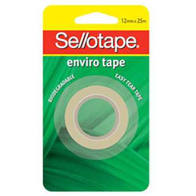 Sellotape Enviro Cellulose Tape 12mm x 25m SPECIAL 30% Off - only 10 available at this price