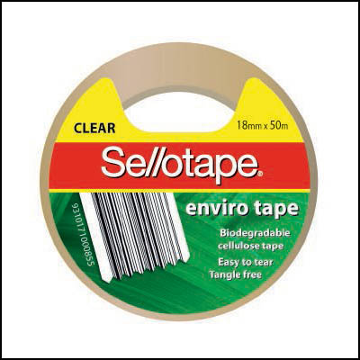 Sellotape Enviro Cellulose Tape 18mm x 50m SPECIAL 30% Off - only 4 available at this price