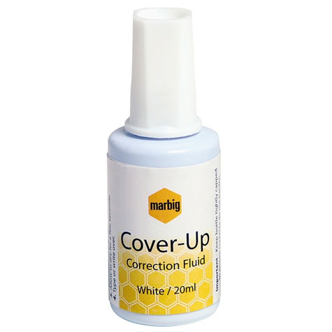 Marbig Cover Up Correction Fluid Blistercard 20ml