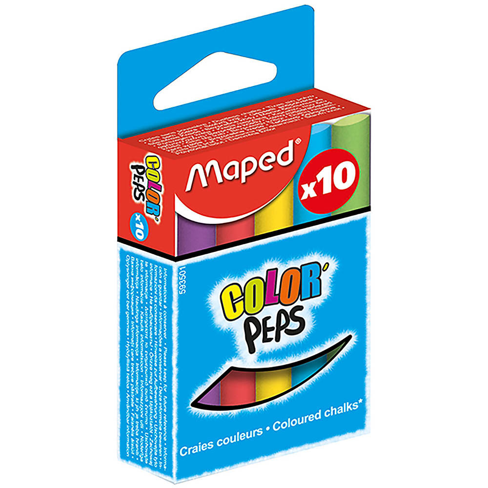 MAPED CHALK COLOURED BOX 10