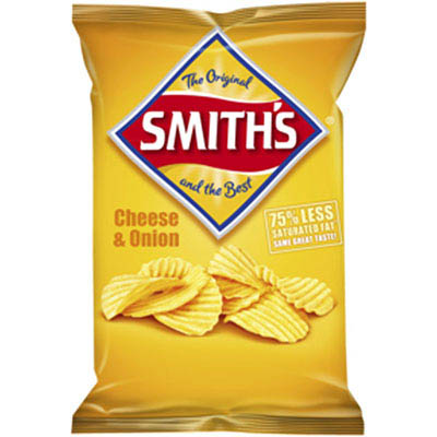 SMITHS CRISPS CRINKLE CUT CHEESE AND ONION 170GM