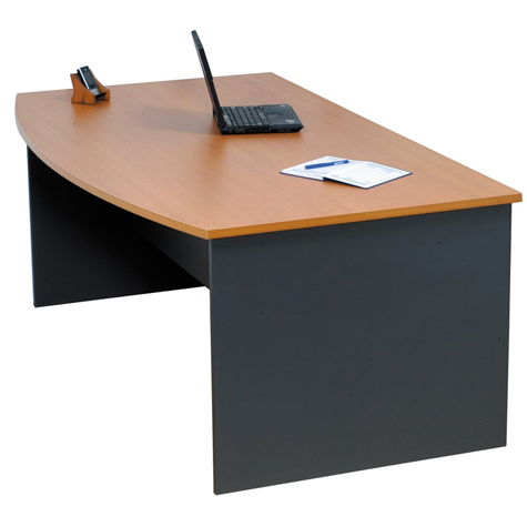 Rapid Worker Reception Counter Bow Front Desk 1800 x 900mm