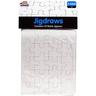COLORIFIC JIGDRAW PLAIN 215 X 180MM PACK 20