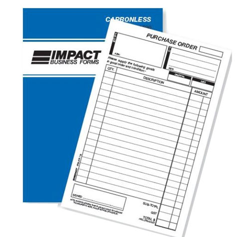 Impact CS520 Purchase Order Book A5 Triplicate 50 Page SPECIAL 30% Off - only 2 available at this price
