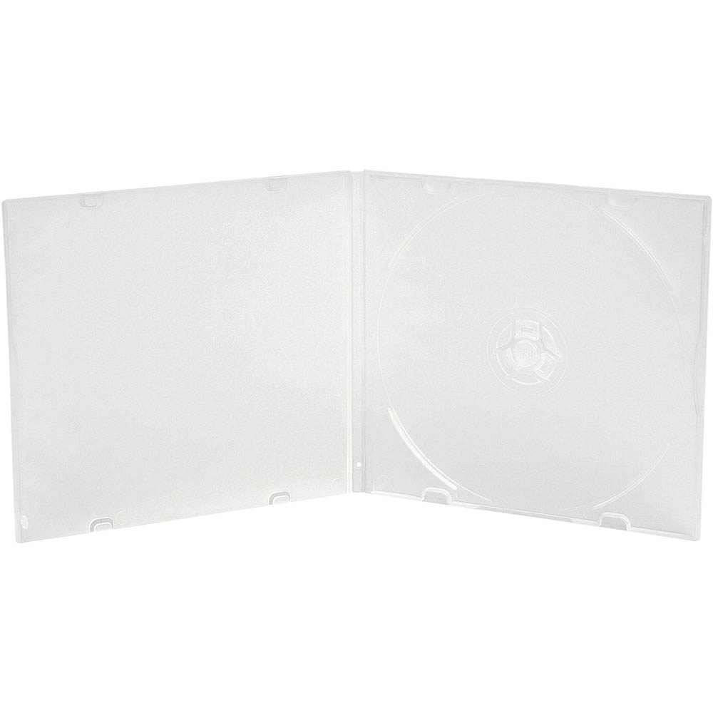 CUMBERLAND JEWEL CASE SLIMLINE CD/DVD PP CLEAR PACK 5