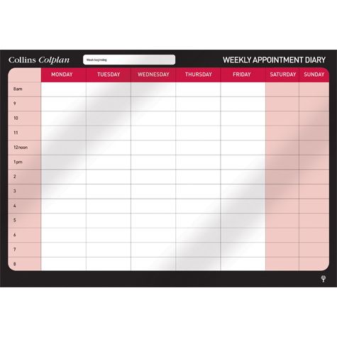 Collins Colplan Weekly Appointment Planner Non Dated SPECIAL 30% Off - only 1 available at this price