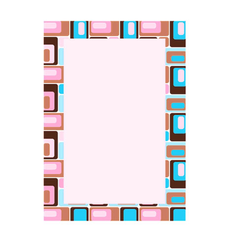 Designa Pink Block Border Presentation Paper A4 PACK 25