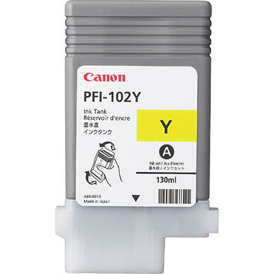 CANON PFI102Y INK YELLOW